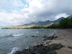 La playa del Taman Sari