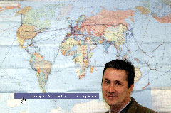 Jorge Sánchez y su mapa mundi
