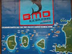 Sitios de buceo en Gilis