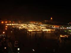 La plaza Jamaa al Fna de noche