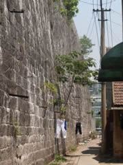 Nanjing. Algunas zonas de la muralla no están muy cuidadas