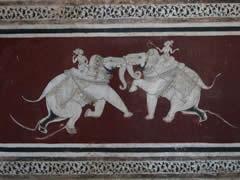 Lucha de elefantes en Chitrasala