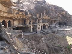 Cuevas budistas de Ellora