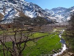 El valle que da acceso al Toubkal