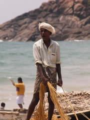 Pescadores en Kovalam