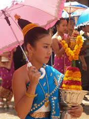 El festival del agua. Ofrenda