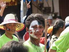 El festival del agua. Rostros pintados