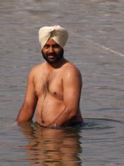 Baño en el lago