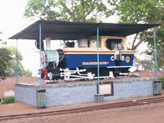 La primera locomotora del toy train