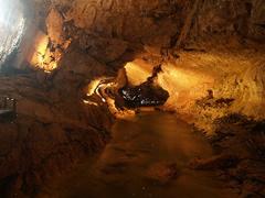 Galería en la cueva Clearwater