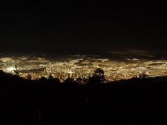 Vista nocturna de Caracas desde el Ávila