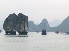 islotes típicos en la bahía