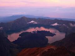 El lago desde la cumbre