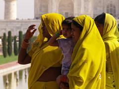 Mujeres en el Taj