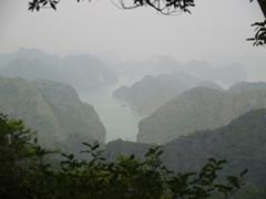 La bahía desde la cima del monte