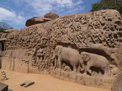 El mural de rocas esculpidas de Anjuna