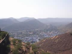 Panorama de Bundi desde el fuerte