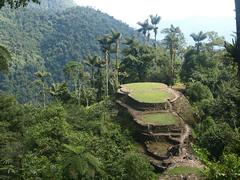 La espectacular vista sobre las terrazas y la jungla