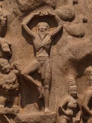 Yogi esculpido en la roca de Anjuna