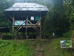 La precaria cabaña donde nos alojamos en Ciudad Perdida