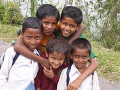 La maravillosa sonrisa de los niños en India