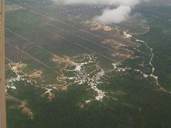 La deforestación es evidente desde el avión