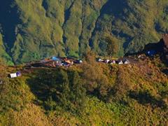 El campamento en la bajada