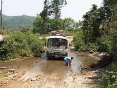 El bus camino de la frontera