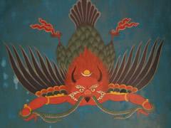 Pinturas en el monasterio de Tashiding
