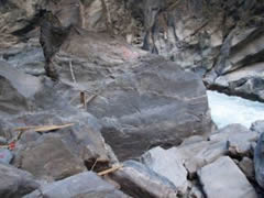 La roca del salto del tigre