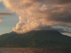 No es un volcán, son nubes