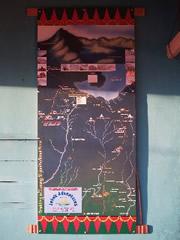 Mapa del trekking al Rinjani