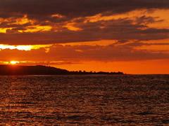 La última puesta de sol