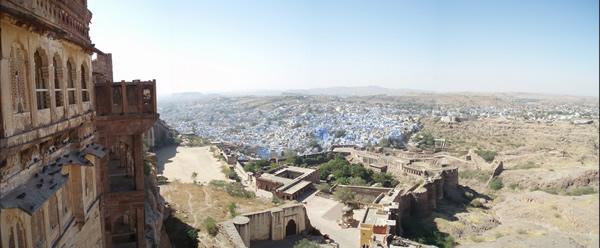 El fuerte de Jodhpur, Mehrangarh, al atardecer