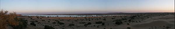 panorámica Olympus del desierto del Thar