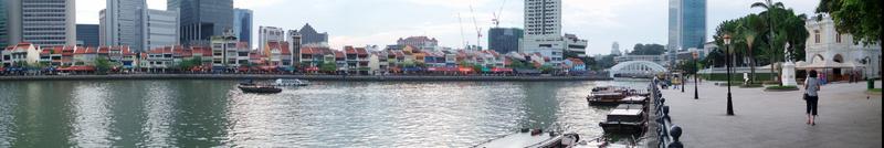 Panorámica Olympus del Riverside de Singapur