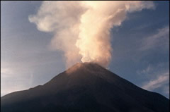 Esta foto del Merapi es de hace unos días