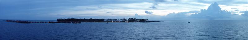 Panorámica Olympus de Mabul desde la plataforma Seaventures