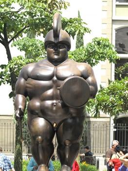 Soldado romano, de Fernando Botero, en Medellín.