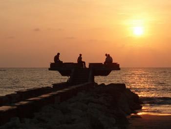 Puesta de sol en Cartagena.