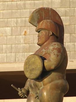Soldado romano, de Fernando Botero, en Coruña
