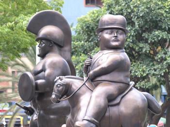 El Soldado romano y el Jinete, de Fernando Botero, en Medellín