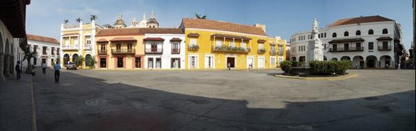 La plaza de Coches en la ciudad amurallada