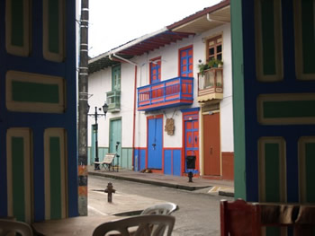 Casas coloristas en Salento