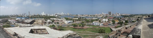 Cartagena desde el castillo de San Felipe