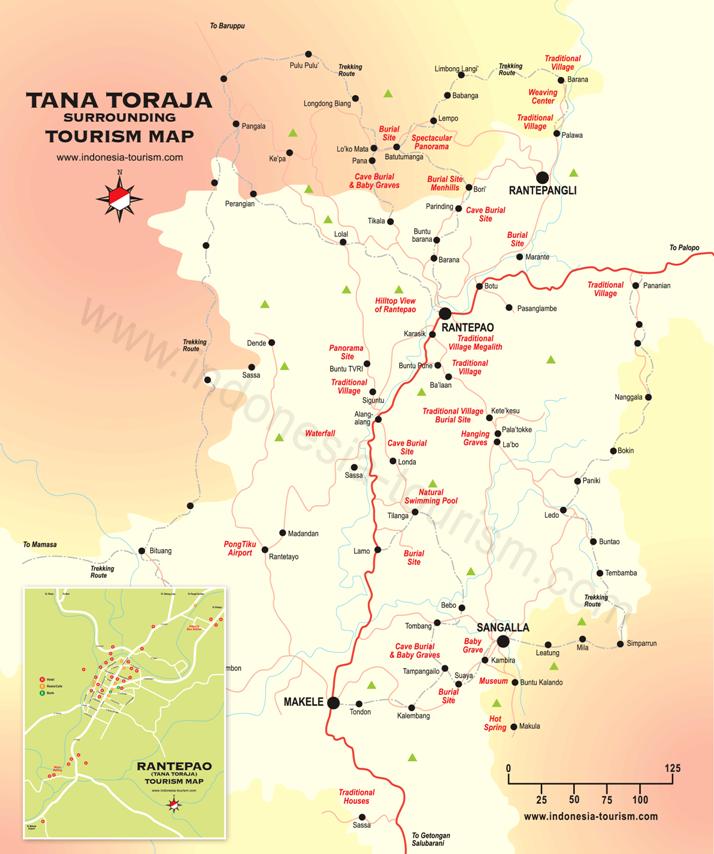Mapa de Tana Toraja