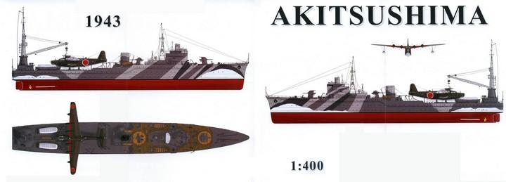 El Akitsushima antes de ser hundido