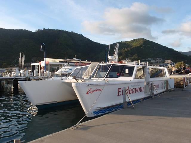 El catamarán de Endeavour Express