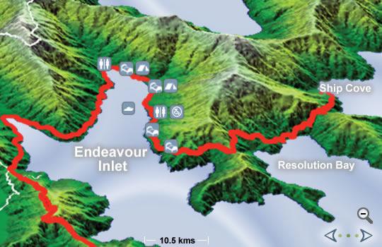 De Ship Cove a Endeavour inlet