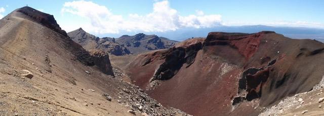 Parque Nacional Tongariro, Patrimonio de la Humanidad de la UNESCO, Restos de cráteres